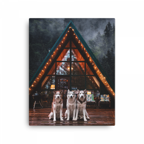 Cozy A-Frame Cabin Canvas