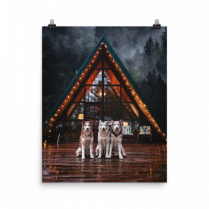 Cozy A-Frame Cabin Poster